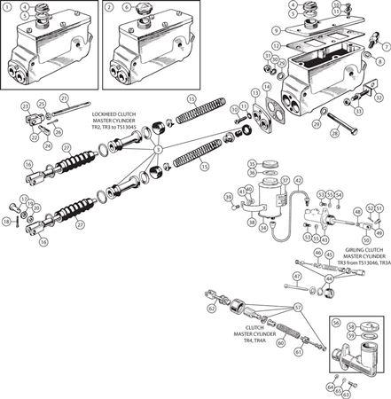 Triumph Tr2 4a Clutch Master Cylinder