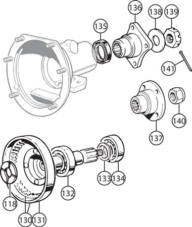 Triumph TR2-5 Annulus and Rear Flange