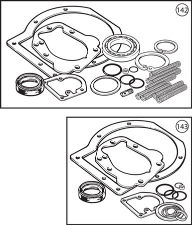 Triumph TR2-4A Overdrive Overhaul Kits - Solid Axle