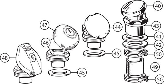 Triumph TR2-4A Fuel Filler Caps