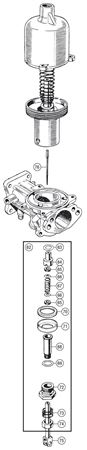 Triumph TR3-4 Carb Components - Jet, Bearing and Needle