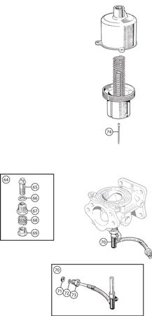 Triumph TR4A Carb Components - Jet, Bearing and Needle