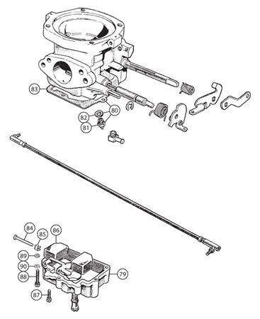 Triumph TR4-4A Carb Components - Float Chambers