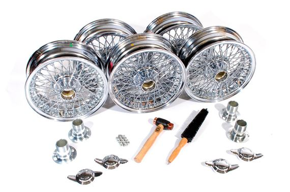 Triumph TR2-5 MWS Wire Wheel Conversion Kits - Set of 5