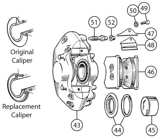 Triumph TR3A-4 Girling Type B Split Calipers - Second Type