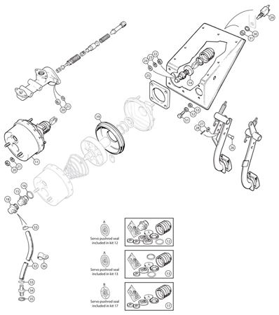 Triumph TR5-250 Servo Repair Kits