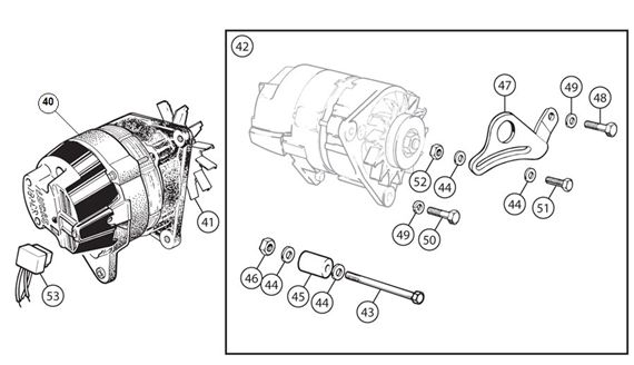 Triumph TR2-4A Alternator Conversion | Rimmer Bros