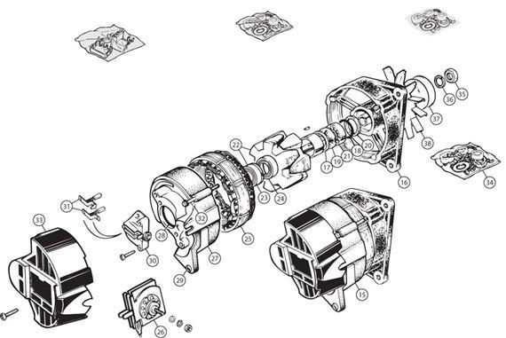 triumph tr5-250 lucas 15 ac alternator