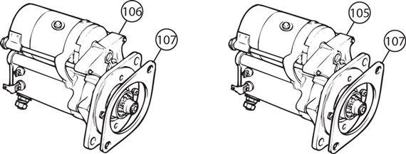 triumph tr5-250 uprated hi torque starter motors