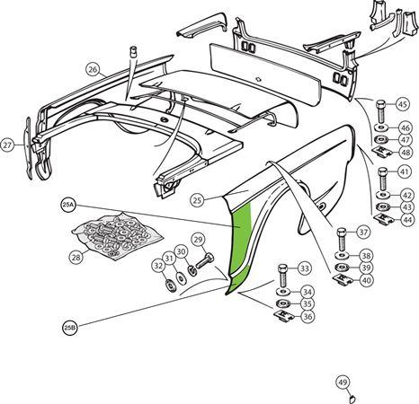 Triumph Tr4 250 Rear Wings