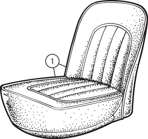 Triumph TR2 Front Seat Cover Kits