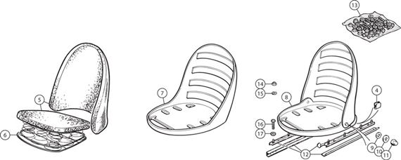 Triumph TR2-3A Front Seat Fittings