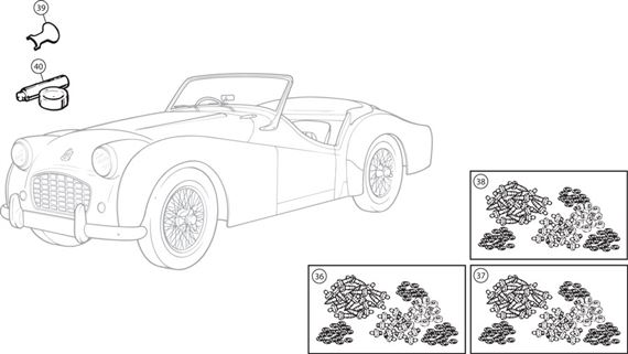 Triumph TR2-3A Body Fittings Kits
