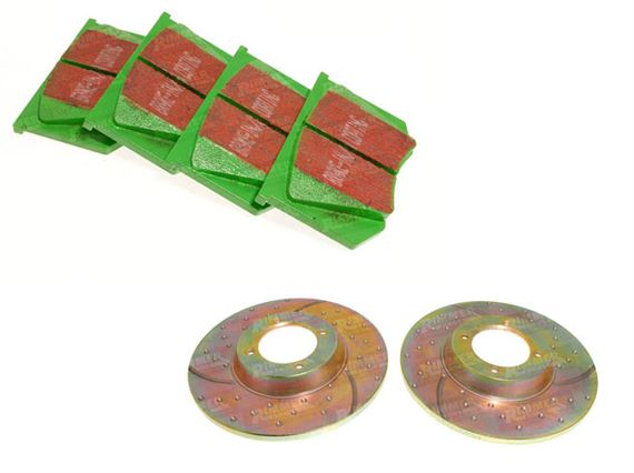 Triumph TR2-5 Uprated Discs and Pads