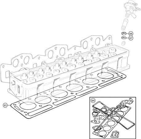 Triumph Tr6 Cylinder Head Gaskets And Attachments