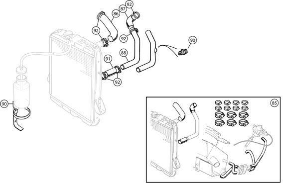 triumph tr6 radiator hoses rimmer bros rh rimmerbros com Ford Engine Internal Diagram Ford Engine Internal Diagram