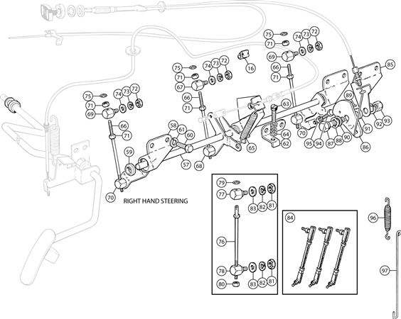 Triumph TR6 Injection System Linkage - All CP Models