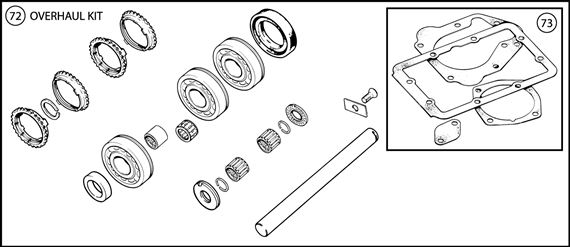 Triumph TR6 Gearbox Overhaul Kits