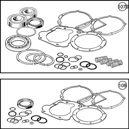 Triumph TR6 J Type Overdrive Overhaul Kits
