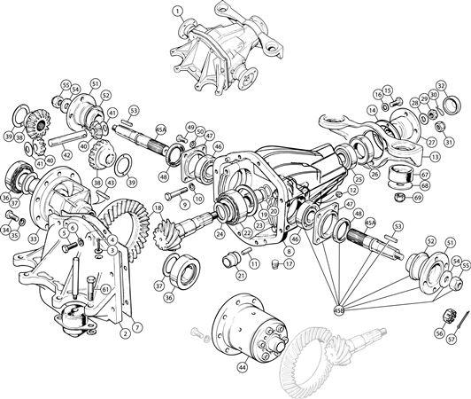 Triumph Tr6 Axle Components