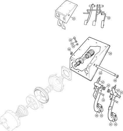 Triumph Tr6 Brake And Clutch Pedals
