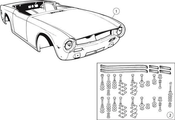 triumph tr6 body shell rimmer bros. Black Bedroom Furniture Sets. Home Design Ideas