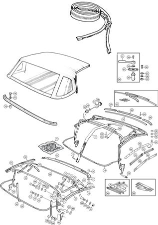 Triumph TR6 Hood Frame and Fittings