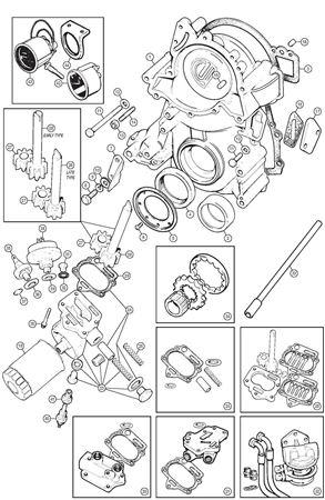 Rage Rover Classic Range Rover P38 Engine Oil Pump /& Timing Belt Gasket Set of 2