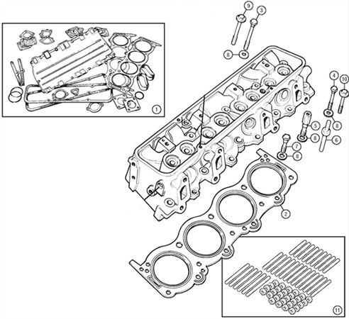 Rover V8 Head Gaskets and Fixings