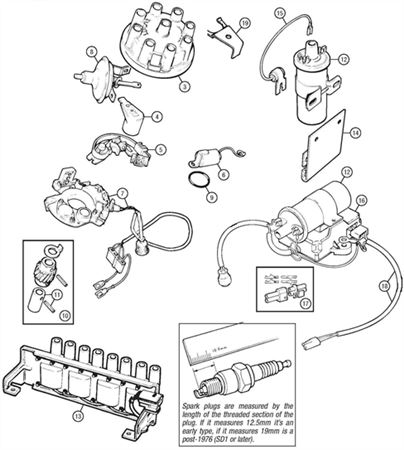 rover v8 ignition components rimmer bros rh rimmerbros com 1986 Dodge Electronic Ignition Diagram 1986 Dodge Electronic Ignition Diagram