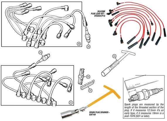 Rover V8 Plug Leads and Spark Plugs
