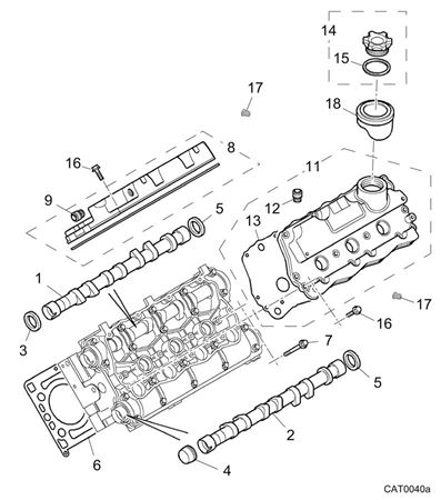 Rover 400/45/MG ZS Camshaft Cover, Manual - 2500 Petrol V6 K Series