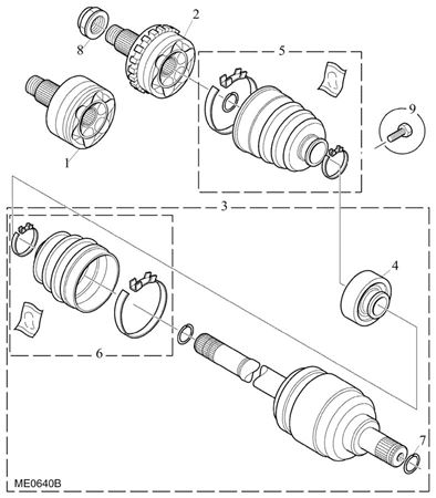 Rover 400/45/MG ZS Driveshaft - 2000 Diesel
