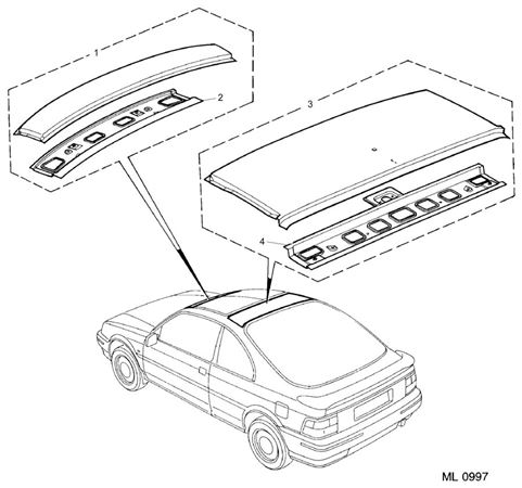 Rover 200 Coupe Roof Panels