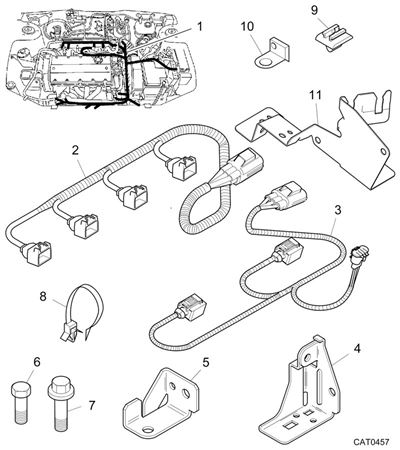 Rover 200/25/MG ZR Engine Harness - Yasaki Type - 1400/1600