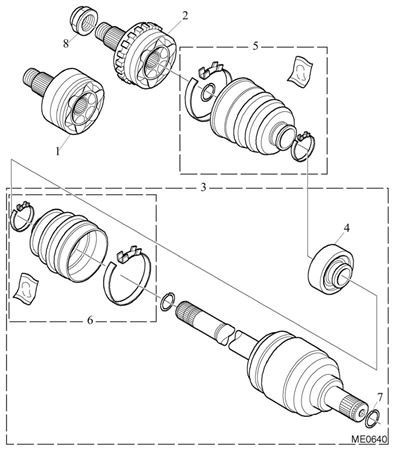 Rover 200/25/MG ZR Driveshaft - 1400