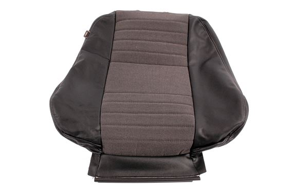 Front Seat Cover - squab - Half Leather Black/Grey (1 Piece) - HBA002000LEQ