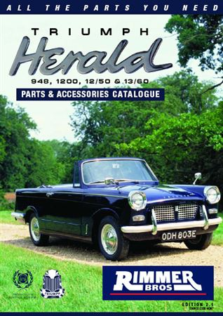 Rimmer Bros Triumph Herald Catalogue (1959-1971) 82 Pages