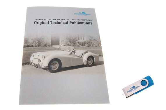 USB ebook - Original Technical Publications Triumph TR2-TR3/3A-TR4/4A-TR5-TR250-TR6 1953-1976
