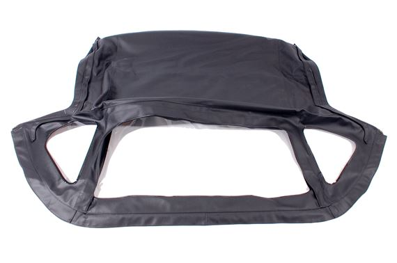 Hood - Fold Away Type OE Spec.- Black Vinyl - with Header Rail and Zip Out Rear Window - HZA5123BLKOEHR