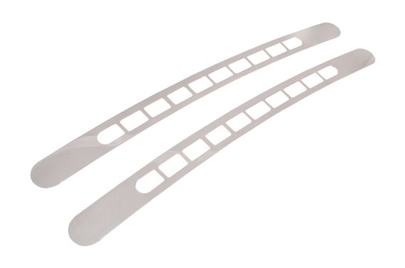 Bezels - Windscreen Demister - Polished Alloy - Pair - Genuine MG Rover - JCC100270ALU