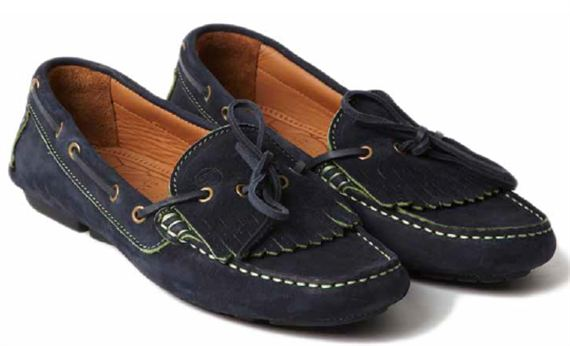Ladies Moccasin - Rosa Navy Calf Suede - Jaguar Collection