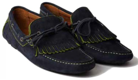Mens Moccasin - Hawthorne Navy Calf Suede - Jaguar Collection