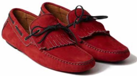 Mens Moccasin - Hawthorne Red Calf Suede - Jaguar Collection