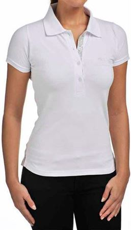 Ladies Polo Shirt - White - Jaguar Collection