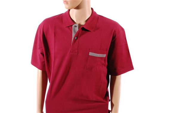 Mens Polo Shirt - Red - Jaguar Collection