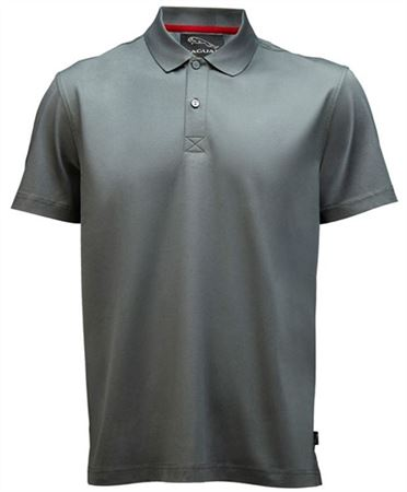 Mens Polo Shirt - Grey Mercerized - Jaguar Collection