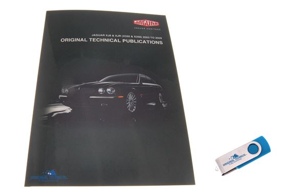 USB ebook - Original Technical Publications Jaguar XJ8 and XJR (X350 and X358) 2003 to 2009