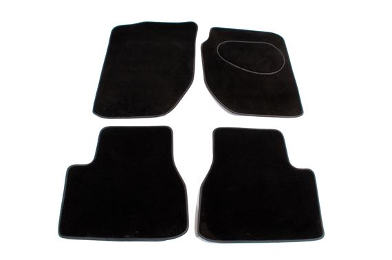 Carpet Mat Set (Front & Rear 4 pc) Black RHD - LF1020BLACK - Aftermarket