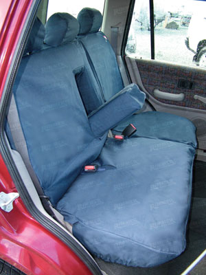 Waterproof Seat Covers 2nd Row Set Blue 60/40 - LF1030BPBLUEAR - Britpart